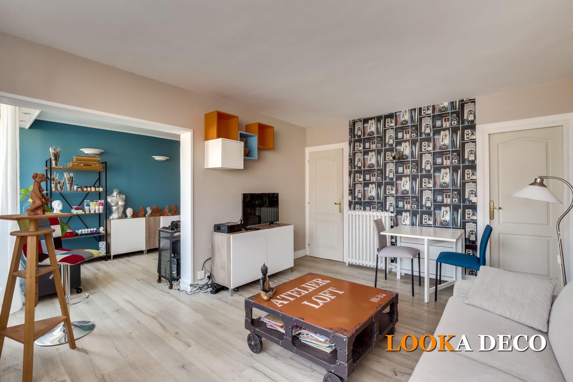 Rénovation complète d'un séjour-salon/atelier-bureau 35m2 | Chatou (92)