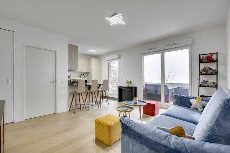 La famille s'agrandit  : aménagement d'un 3 pièces neuf de 56 m2 à PUTEAUX!